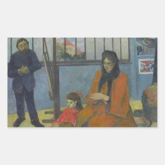 Paul Gauguin - Schuffeneckers Studio Rechteckiger Aufkleber