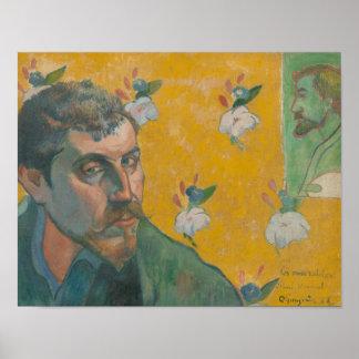 Paul Gauguin - Selbstporträt mit Porträt Poster