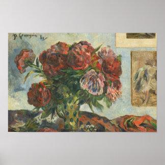 Paul Gauguin - Stillleben mit Pfingstrosen Poster