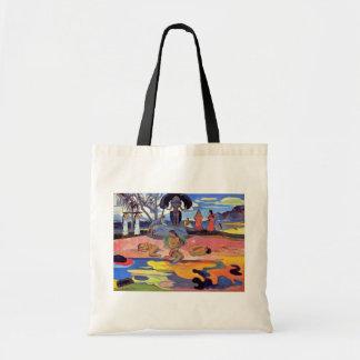 Paul Gauguin - Tag der Götter - Kunst-Malerei Tragetasche