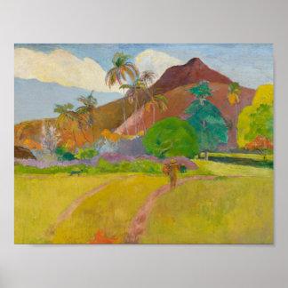 Paul Gauguin - Tahitian Landschaft Poster