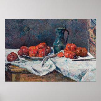 Paul Gauguin - Tomaten und ein Zinn-Krug Poster