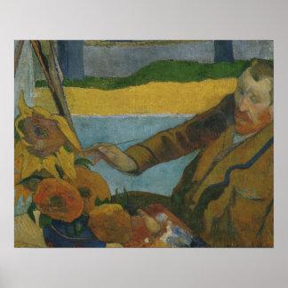 Paul- Gauguin - Vincent-van Gogh Gemälde Poster