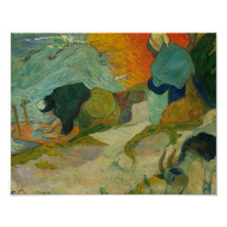 Paul Gauguin - Washerwomen in Arles Poster