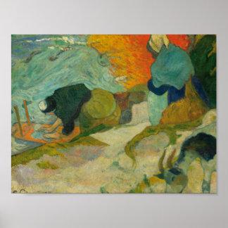Paul Gauguin - Washerwomen in Arles Poster