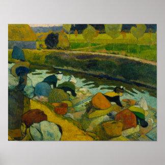 Paul Gauguin - Washerwomen Poster