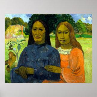 Paul Gauguin zwei Frauen Poster
