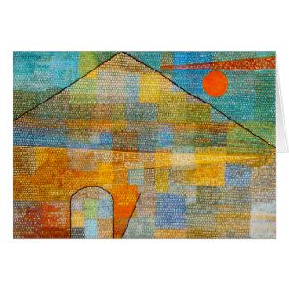 Paul Klee-Anzeige Parnassum Anmerkungs-Karte Mitteilungskarte