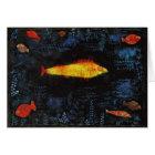 Paul Klee die GoldfishVintage Watercolor-Kunst Karte