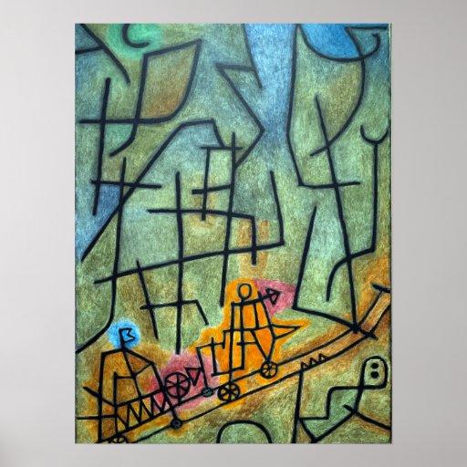 Paul Klee-Eroberung des Berges Poster