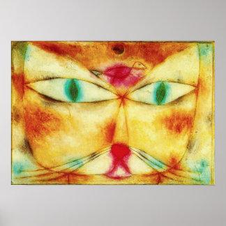 Paul Klee-Katze und Vogel-Plakat