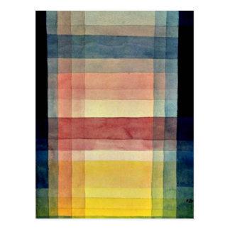 Paul Klee-Kunst: Architektur der Ebene Postkarte