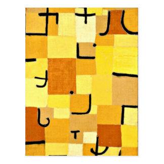 Paul Klee-Kunst: Charaktere im Gelb Postkarte