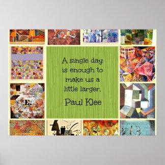 Paul Klee-Kunst-Collage mit Zitat Poster