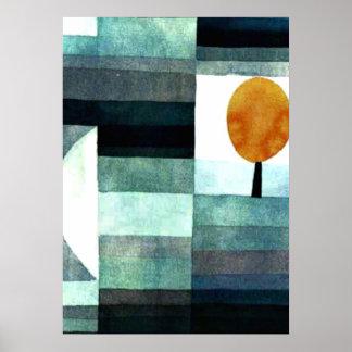 Paul Klee-Kunst: Der Bote des Herbstes Poster