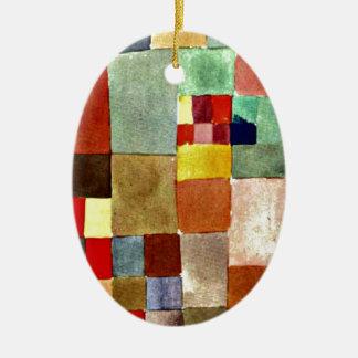 Paul Klee-Kunst: Flora auf Sand, berühmte Malerei Keramik Ornament