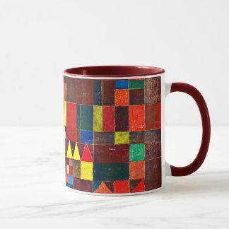 Paul Klee-Kunst: Schloss und Sun Tasse
