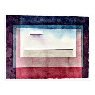 Paul Klee-Kunst: Stillstehen, malend durch Paul Postkarte