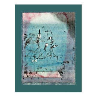 Paul Klee-Kunst: Twittering Maschine Postkarte