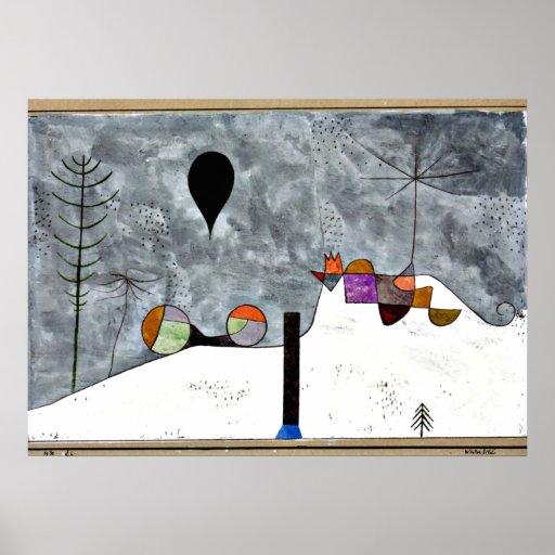 Paul Klee-Kunst: Winter-Malerei Plakatdrucke