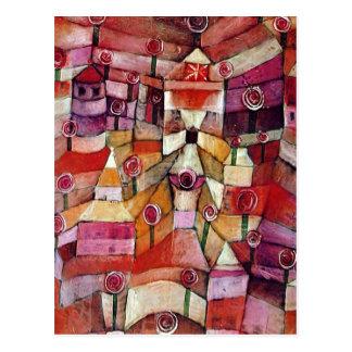 Paul Klee - Rosen-Garten Postkarte