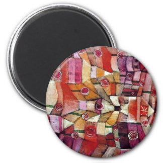 Paul Klee - Rosen-Garten Runder Magnet 5,1 Cm