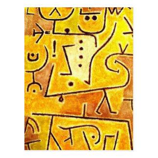 Paul Klee - rote Weste Postkarte