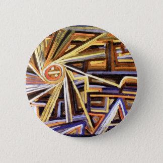 Paul Klee - Strahlung und Rotation - abstrakte Runder Button 5,1 Cm