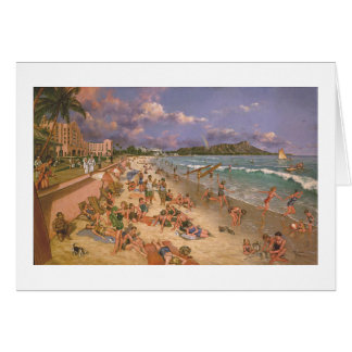 "Paul McGehee ""auf dem Strand bei Waikiki"" Karte"