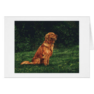 "Paul McGehee ""das golden retriever-"" Karte"