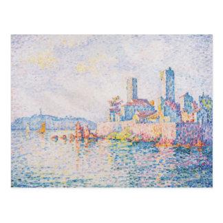 Paul Signac- Antibes, die Türme Postkarte