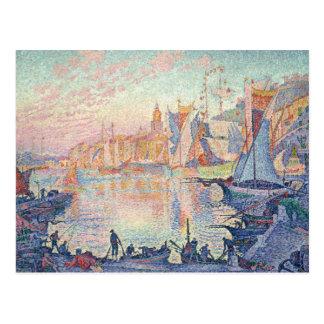 Paul Signac - der Hafen des Heiligen-Tropez Postkarte