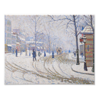 Paul Signac - Schnee, Boulevard de Clichy, Paris Fotodruck