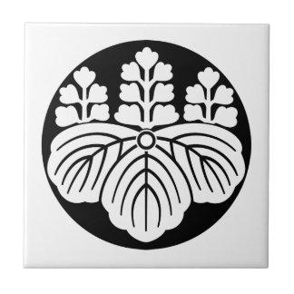 Paulownia mit Blüte 5&7 im Reiskuchen Keramikfliese
