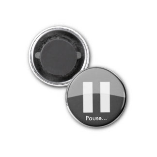 PAUSE Knopf-Magnet Runder Magnet 2,5 Cm
