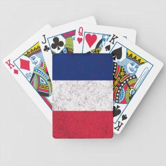 Pavillon De-La Frankreich-Flagge von Frankreich Bicycle Spielkarten