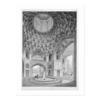 Pavillon der acht Paradiese, in Isfahan, von Postkarte