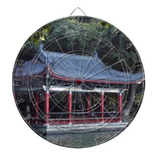 Pavillon, See Ronghu, Guilin, China Dartscheibe