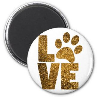 Paw Love Runder Magnet 5,7 Cm
