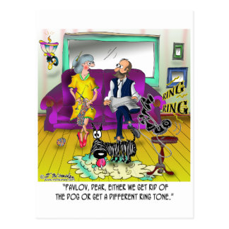 Pawlows Klingelton Postkarte