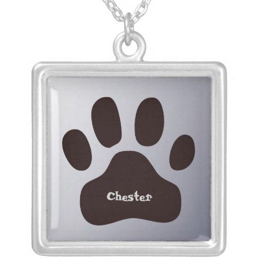Pawprint personalisierte Tiertatze Halskette