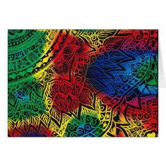 Pawprint Regenbogen Karte