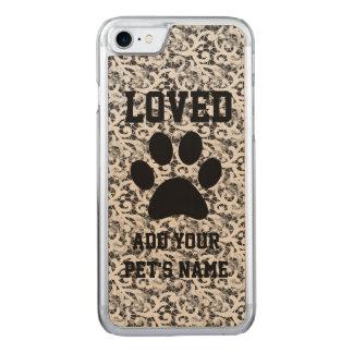Pawprint und Spitze-Haustier Carved iPhone 8/7 Hülle