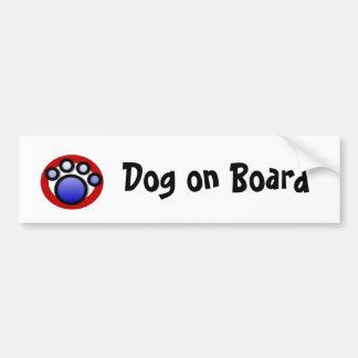 pawprintlogo, Hund an Bord Autoaufkleber