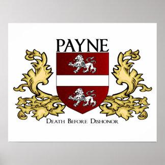 Payne Familien-Wappen Poster