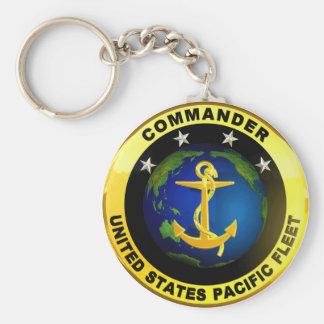 Pazifikflotte-Kommandant Standard Runder Schlüsselanhänger