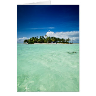 Pazifikinsel mit Palme-Grußkarte Grußkarte