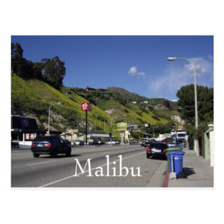 Pazifikküste-Landstraße Malibu Kalifornien Postkarte