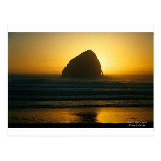 Pazifische Stadt-goldener Ozean-Sonnenuntergang Postkarte