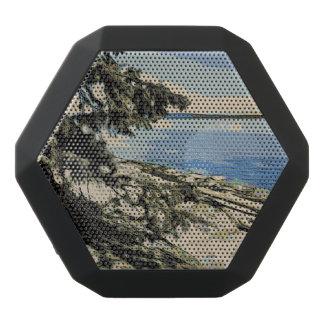 Pazifische Strand woodblock Art Schwarze Bluetooth Lautsprecher